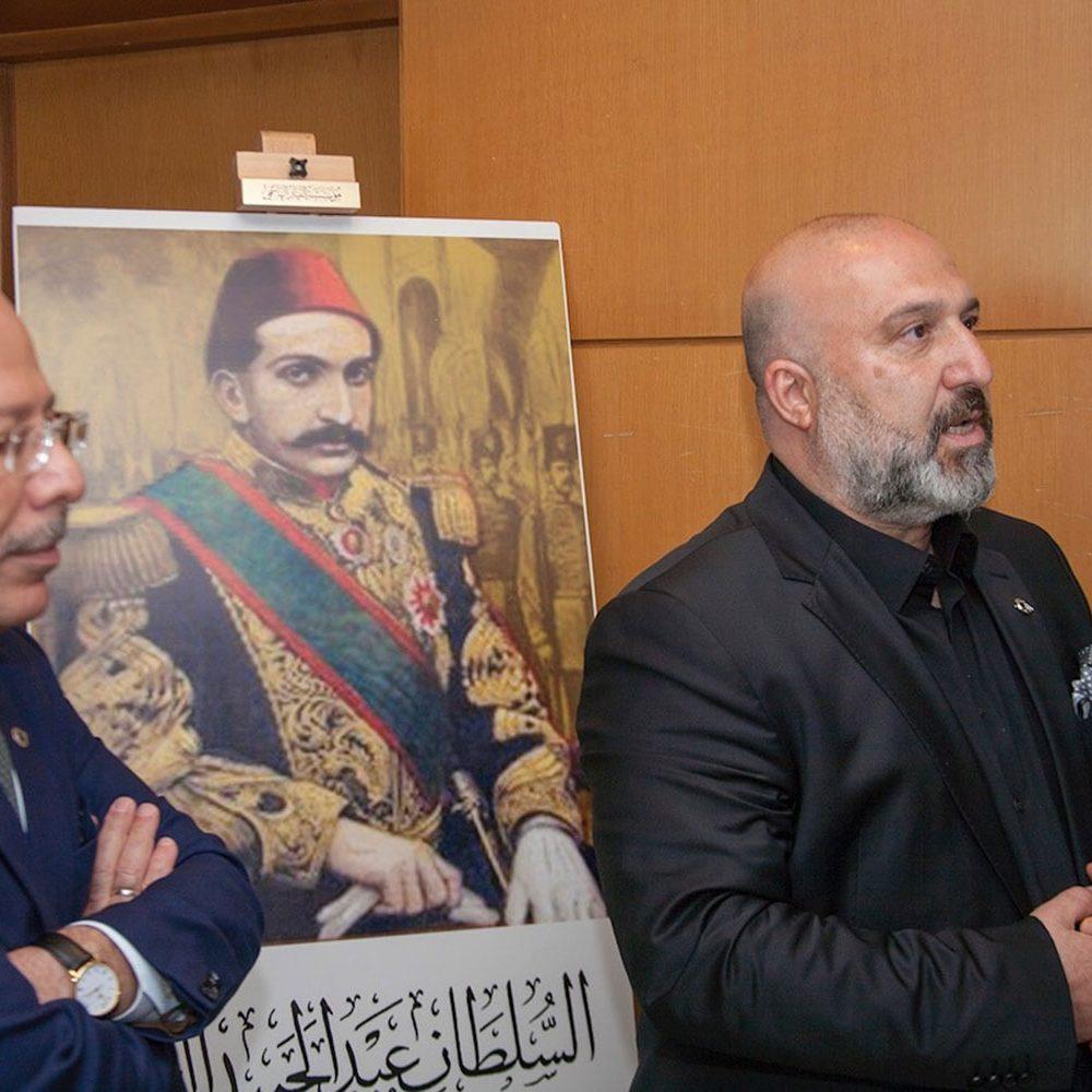 الأمير أورهان عثمان أوغلو حفيد السلطان عبد الحميد الثاني برفقة سفير الجمهروية التركية في تونس منتدى القدس في ضمير الأمة 11 ماي 2018م